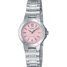 Casio LTP-1177A-4A1 Silver Pink Stainless Steel Band Watch Ladies Analog Malaysia