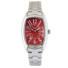Casio LTP-1208D-4B Silver Red Stainless Steel Watch Ladies Analog Malaysia