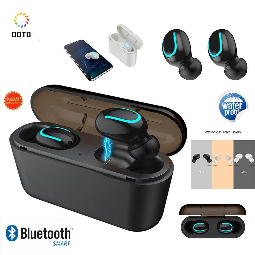 Oqto Q32 Tws Nirkabel Bluetooth Headset 5.0 IPX5 Tahan Air Headphones  Stereo Headphone Olahraga dengan Mikrofon 780cbaeee1