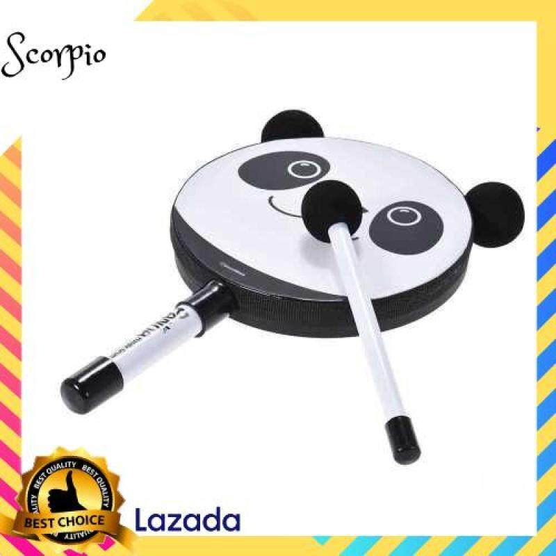 BEST SELLER 6in Panda Tambourine Percussion Musical Instrument Toy Gift with Mallet for Baby Kids Children Malaysia