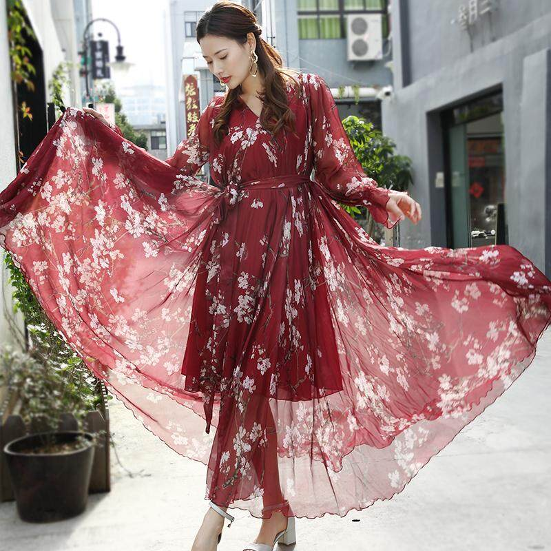 08cfa858b6 Dress Female Summer 2019 New Style Bohemian Long Skirts Immortal Seaside  Holiday And Ankle Thailand Beach