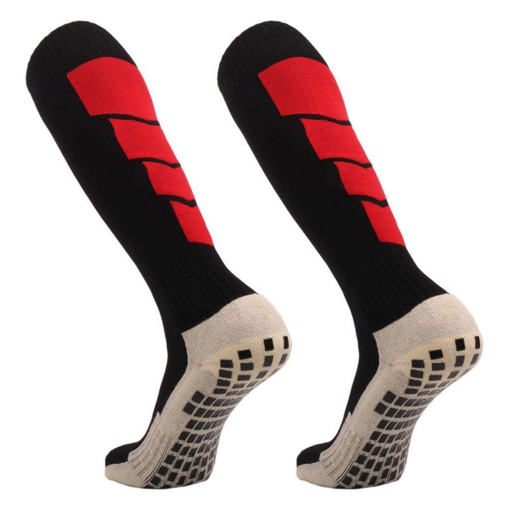 Men's Socks Anti Slip Mens Male Football Socks Soccer Sports Running Long Stockings Leg Compression Stretch Knee High Cotton Silica Gel