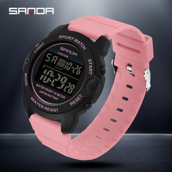 SANDA Women Watch Original Waterproof Watch Multifunctional Sports Fashion Luxury Brand Digital Outdoor Womens Watch Malaysia