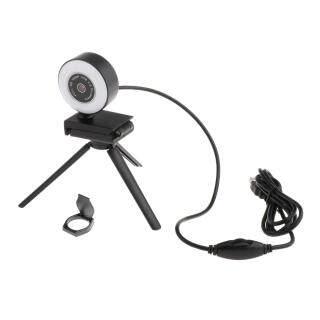 Webcam USB HD MagiDeal, Quay Video, Cho PC Streaming Với Đèn Vòng Micro thumbnail