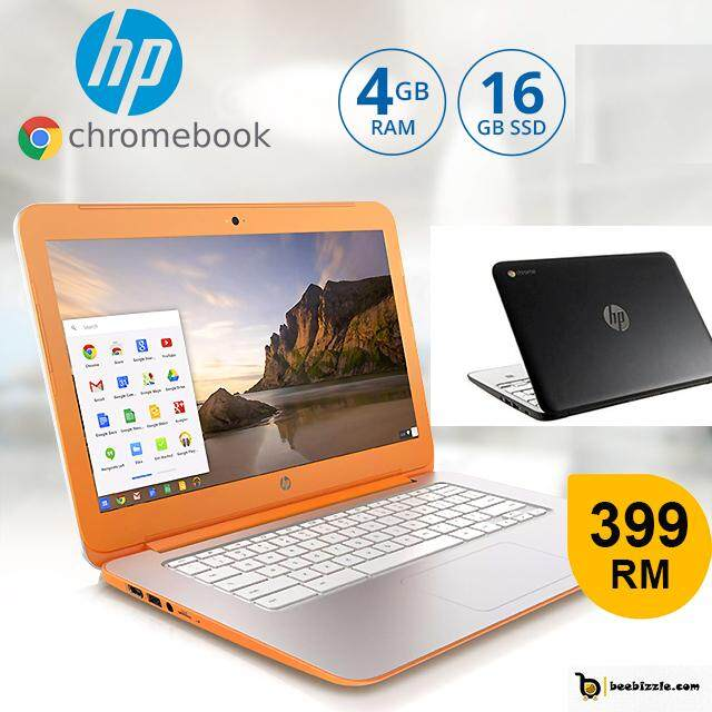 HP Chromebook 11 G2, (Refabricated)HD LED Display, Intel Celeron Processor,, 16GB SSD, Memory Card Slot, OS Google Chrome Malaysia