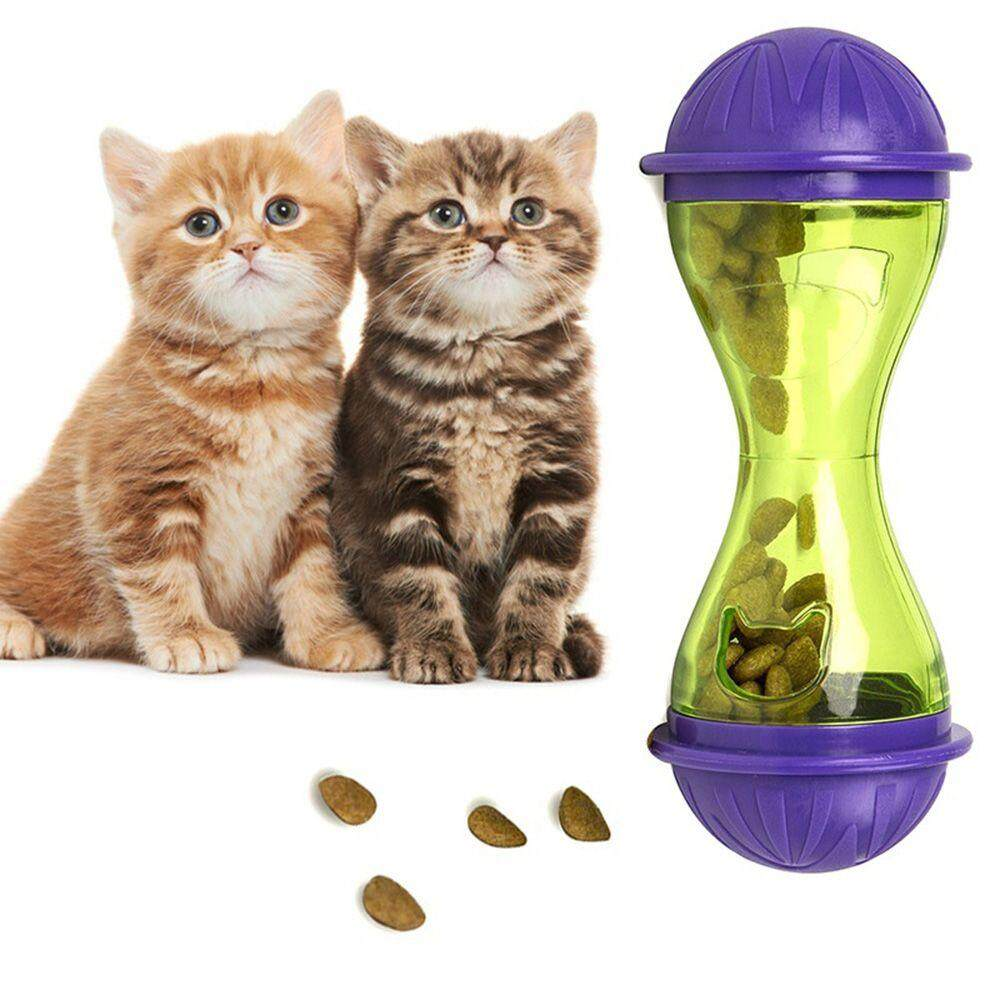 Cat Dog Feeder Plastic Funny Pet Food Dispenser Treat Ball Puppy Leakage Food Toy By Okdeals01.