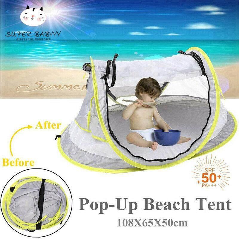 SBY Gấp Di Động Giường Cũi em bé Du Lịch Bãi Biển Giường Lưới Lều Muỗi UV Chống Nắng