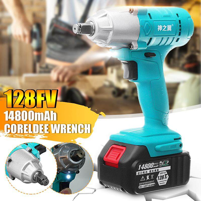 128TV 14800mAh Cordless Portable Electric Impact Wrench Drill Screwdriver Torque