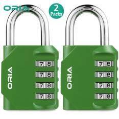 Khóa kết hợp 4 chữ số ORIA, khóa 2 gói bằng thép và hợp kim kẽm phù hợp cho phòng tập thể dục lưu trữ tài liệu – INTL