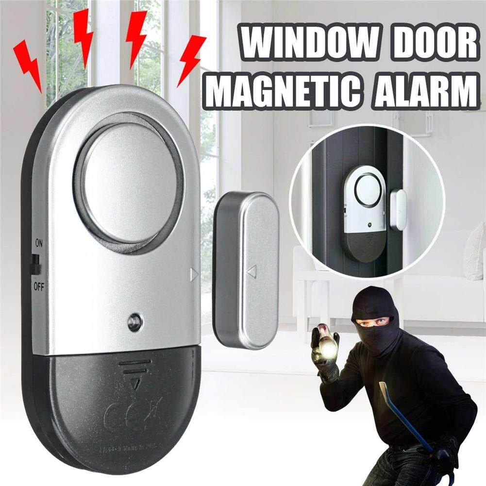 Door Window Alarm 2PCS Home Security Wireless Magnetic Sensor Burglar Anti-theft Ultra-thin