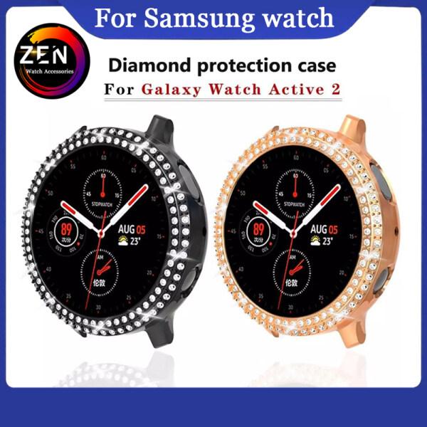 Ốp Lưng Kim Cương Bảo Vệ Toàn Màn Hình Cho Samsung Galaxy Watch Active 2 40Mm 44Mm