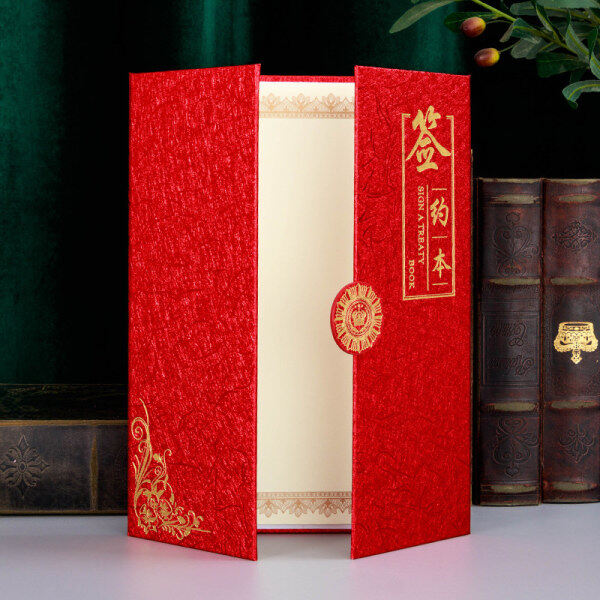 ya zia4European Creative Signatory Book Folder Contract Clip Contract This Business Office High-End Strategic Cooperation Signing Ceremony This Agreement Folder Conference Folder Customized Printing Inner Page