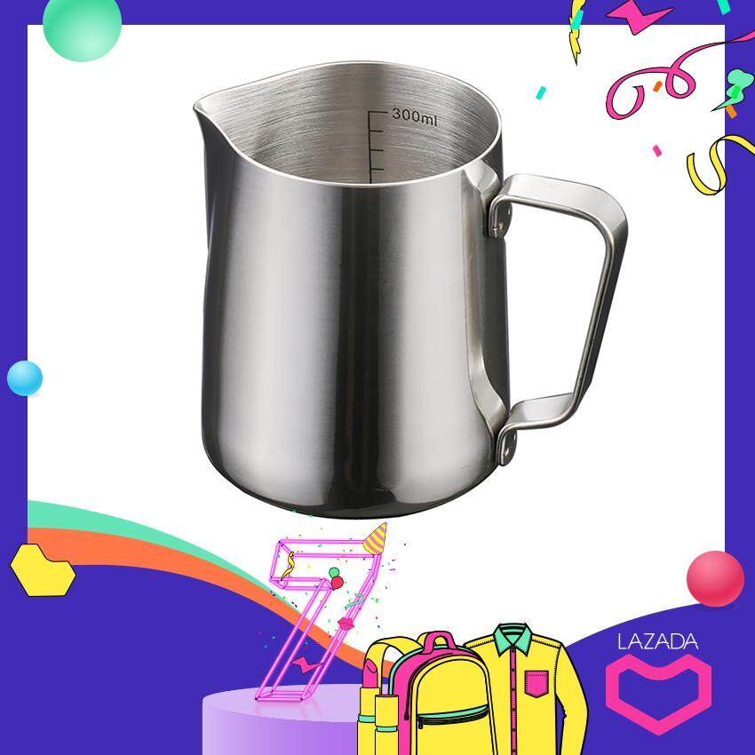 Bolehdeals 350ml Kitchen Stainless Steel Coffee Frothing Milk Tea Latte Jug With Scale By Bolehdeals.