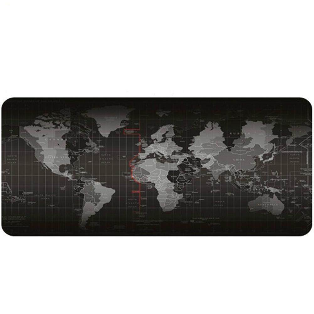 90*40cm Large World Map Pattern Gaming Mouse Mat Pad Durable Office Table Mat x1