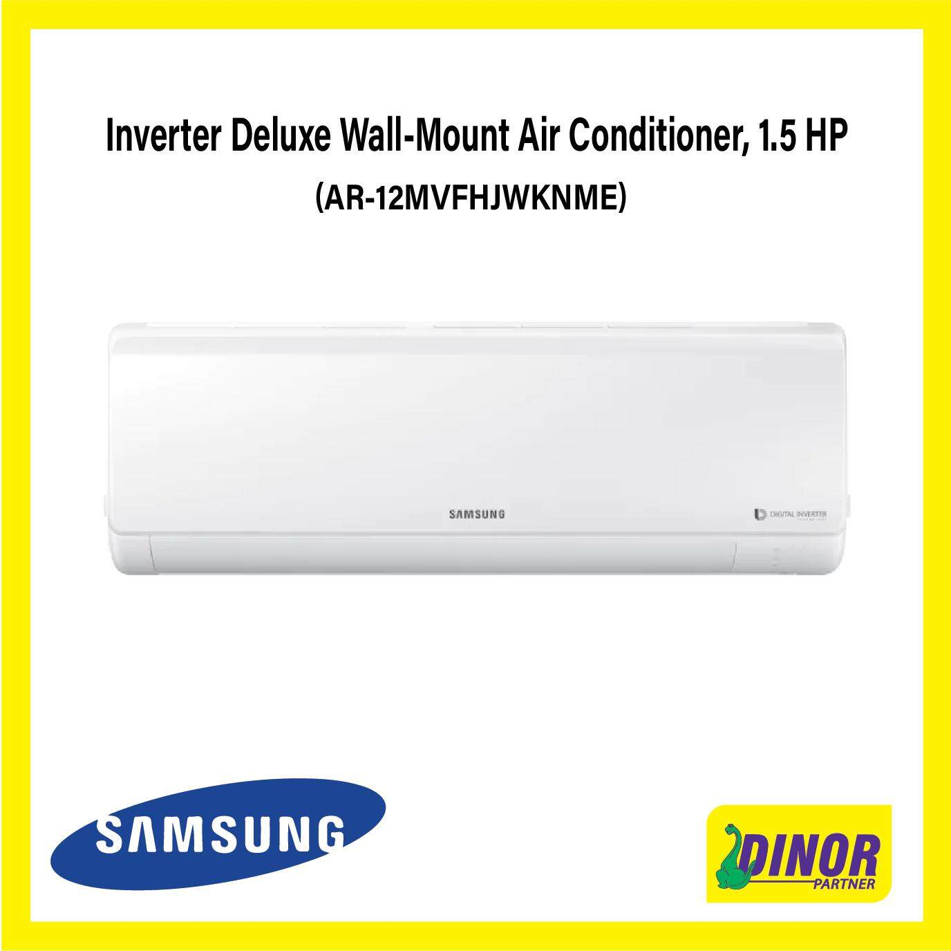 Samsung Inverter Deluxe Wall-Mount Air Conditioner with 8-Pole Inverter, 1.5 HP (AR12MVFHJWKNME)