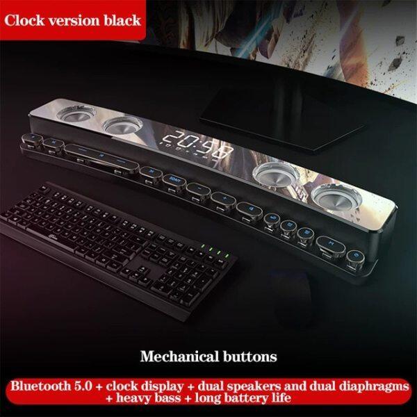YABA 3600mAh Bluetooth Speaker for Computer Game,soundbar 3D Stereo Subwoofer AUX FM Home Clock speaker pc Malaysia