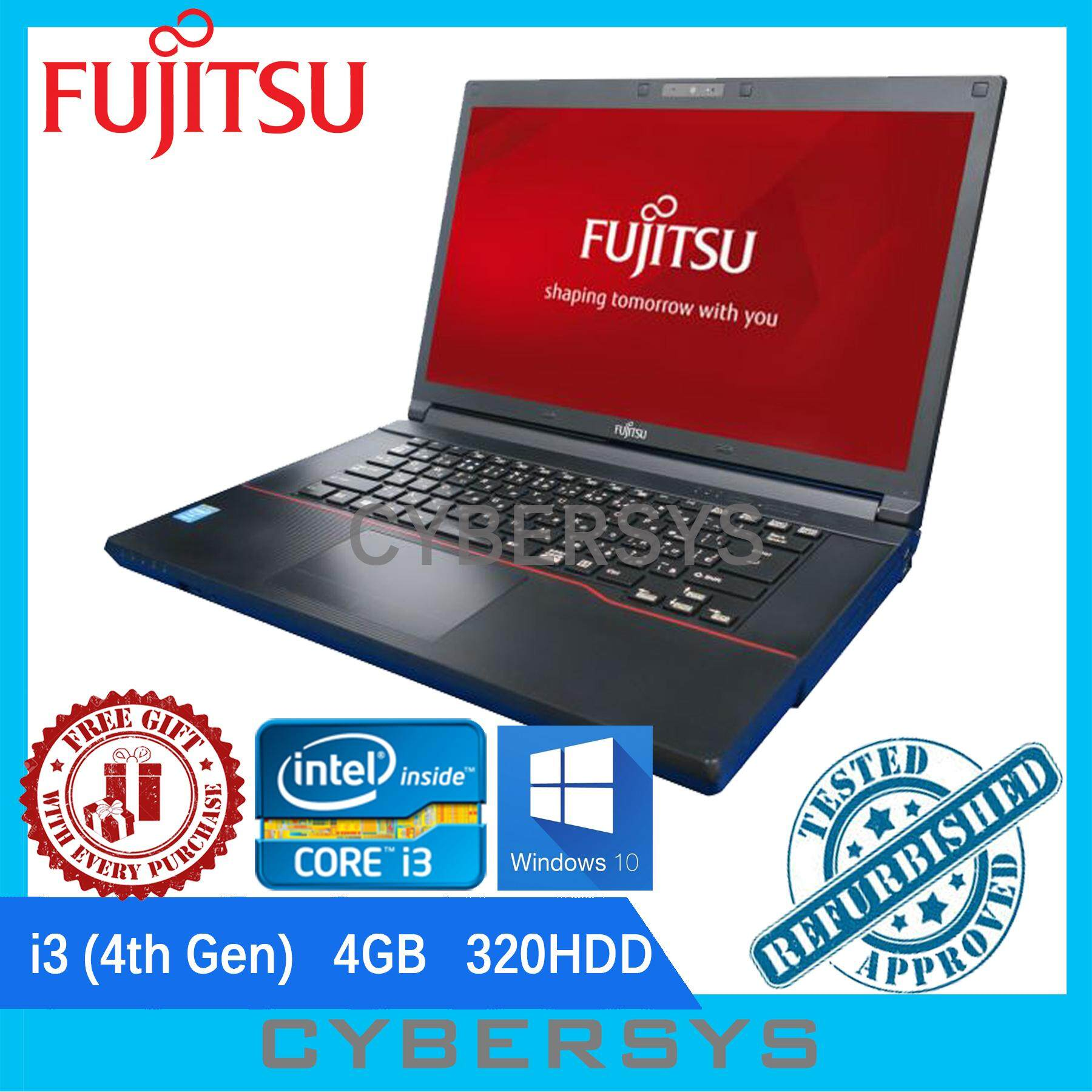 Fujitsu Lifebook Intel Core I3 4TH 4GB 320GB Laptop Notebook (Refurbished) Malaysia