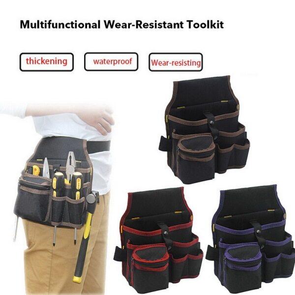 hot sale Hardware Electrician Tool Bag Multi-purpose Waist Bag Wear-resistant Repair Kit Multi-function Electrician Waist Bag S11 Three Layers