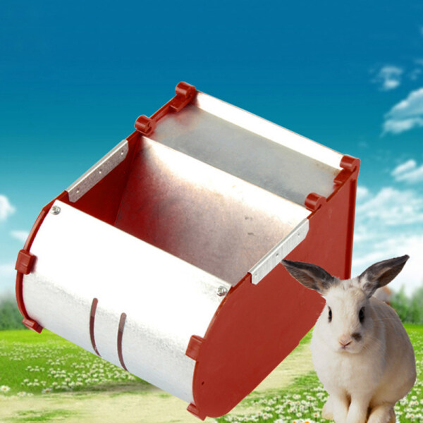 Thickened External Feed Box with Powder Leakage Hole for Rabbits