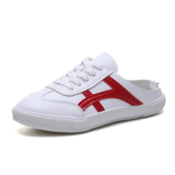 Giày lười nữ, màu trắng, kiểu dáng thời trang, phù hợp cho học sinh giá rẻ