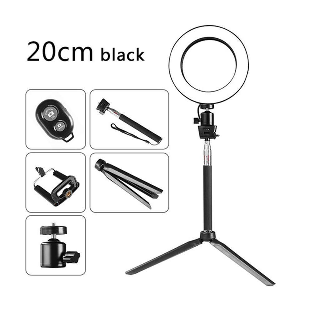 Orzbuy 8 Ponsel Pintar Selfie Lampu Cincin Dengan Stand Tripod & Ponsel Selfie Tongkat Untuk Makeup, Kamera Mini Ringlight Untuk Meningkatkan Lampu Foto By Orzbuy.