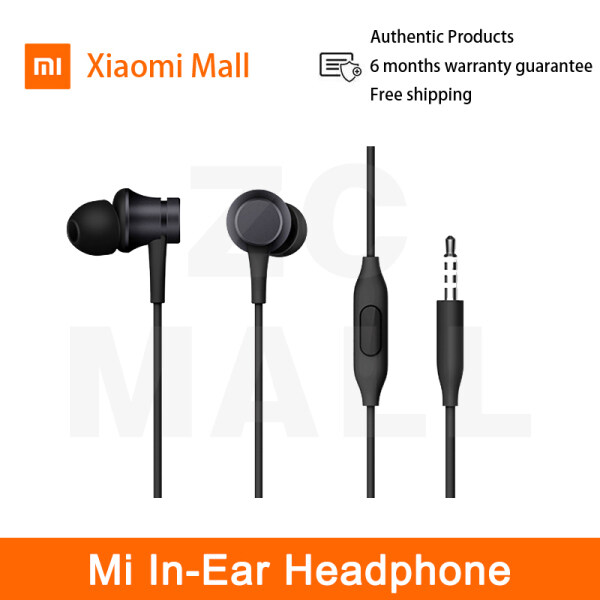 Original Xiaomi Mi In-Ear Headphone Piston Fresh Version colorful Basic Noise-Canceling Mi Note 10 pro 3.5mm Jack Earphone Headset Wire Control With Mic for Mi CC9 9T Redmi Note 8 9 10 pro 9s Note7 8A 8T ZC Mall Singapore