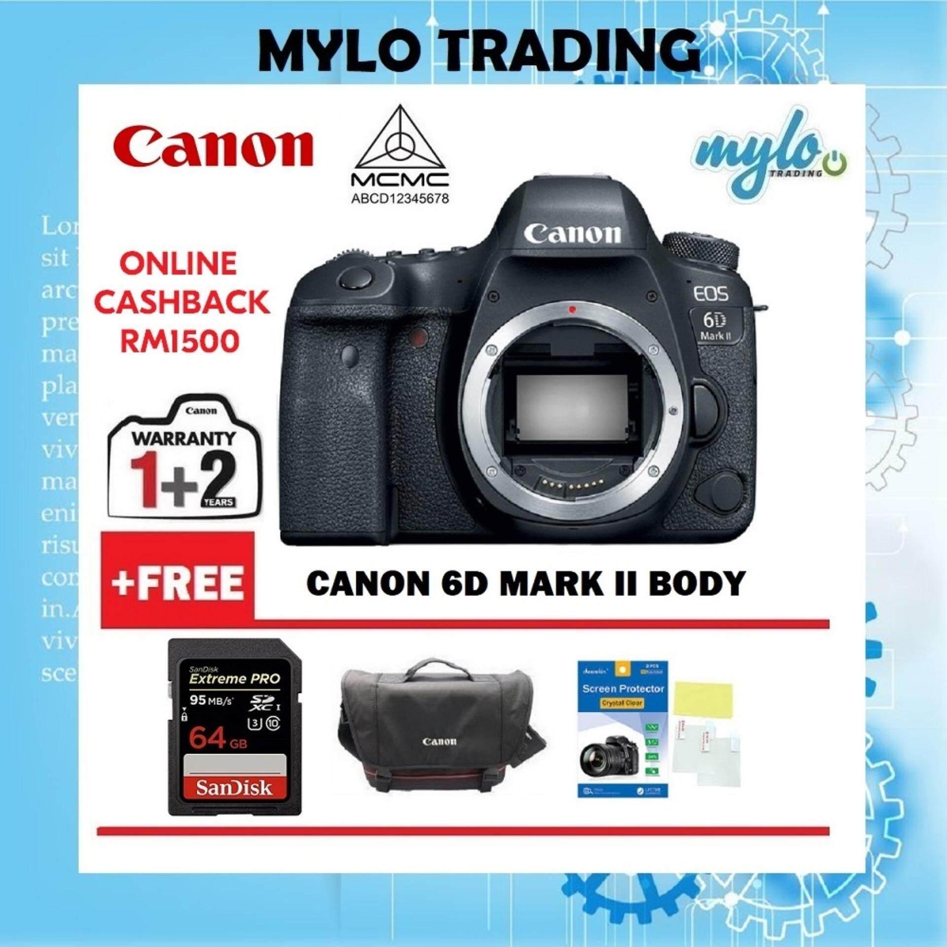 Canon Eos 6d Mark Ii Dslr Camera Body Only 3 Year Canon Malaysia Warranty