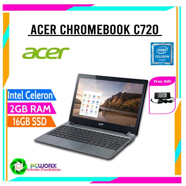 Cheap Acer C720-2815 Chromebook Intel Celeron (1.40 GHz) 2 GB Memory 16 GB SSD 11.6 Chrome OS(Refurbished) Malaysia