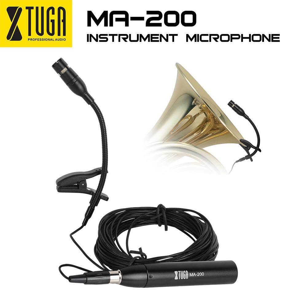 XTUGA MA-200 Cardioid Ngưng Tụ Nhạc Cụ Micro sử dụng cho Nhạc Cụ có 2 Giá Đứng Kẹp, kẹp Nhạc Cụ Micro Tuyệt Vời cho Saxophone đàn piano, guitar Phụ Kiện Nhạc Cụ