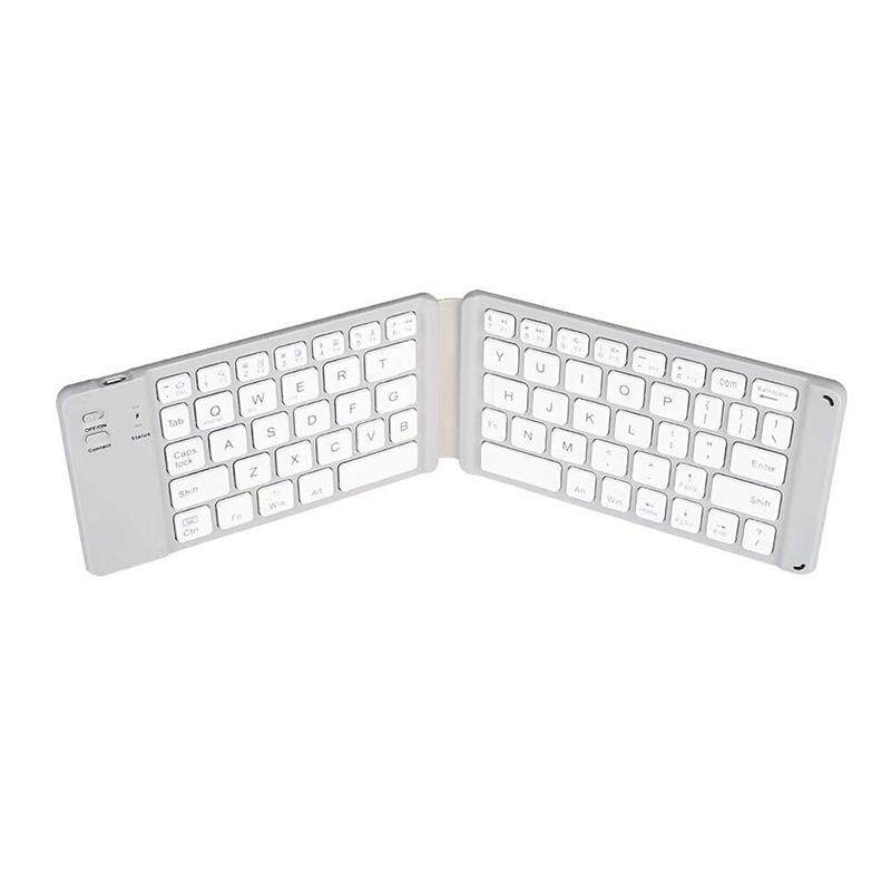 Bluetooth Folding Keyboard Portable Thin Bluetooth Folding Keyboard Foldable BT Wireless Keypad for IOS/Android/Windows Malaysia