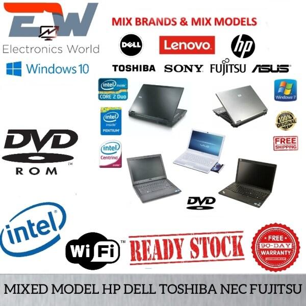 Mix Brand Budget Laptop - Intel Core 2 Duo /  4GB DDR3 Ram / 250gb  Hard Disk /Notebook Murah Student Malaysia