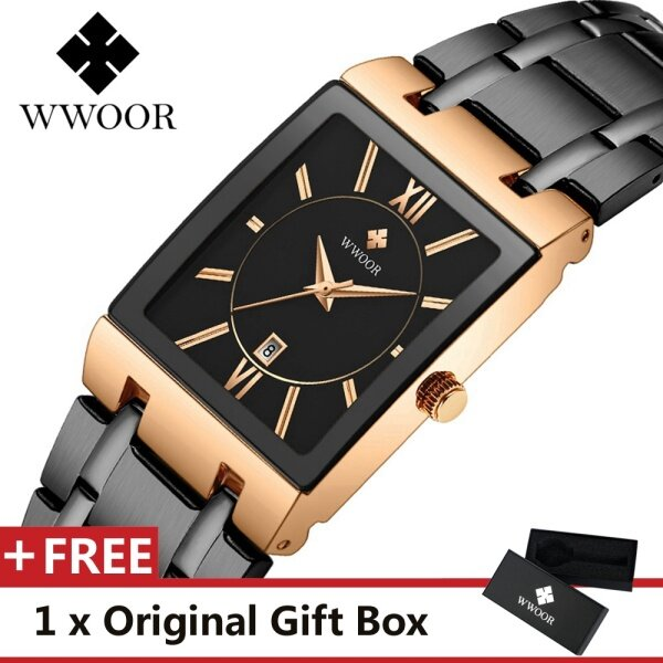 WWOOR WR8858 Top Luxury Brand Watch For Man Fashion Sports Men Quartz Watches Trend Wristwatch Gift For Male jam tangan lelaki Malaysia