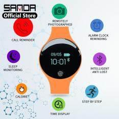 SANDA Bluetooth Thông Minh Dành Cho IOS Android Nam Đồng Hồ Nữ Đồng Hồ Thể Thao Thông Minh Đo Sức Đi Bộ Tập Thể Hình Đồng Hồ Kỹ Thuật Số Đèn LED Đa Năng Thời Trang đồng Hồ Nam Nữ