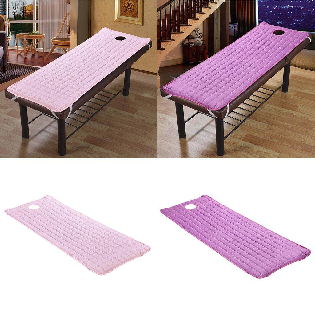BolehDeals 2pcs SPA Massage Treatment Bed Cover Mattresses Purple 180x60cm Purple Pink