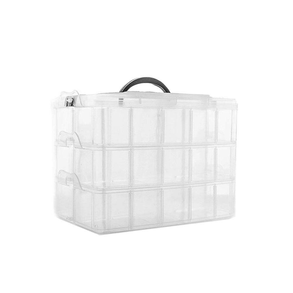 KEJARYDetachable 30-Grid Storage Box - Portable Three-Layer Plastic Storage Box for Lego Toy Accessories storage box