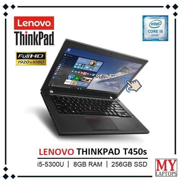 LENOVO THINKPAD T450s / 8GB RAM DDR3 / 256GB SSD / ULTRABOOK THIN / FULL HD  (1920 x 1080) TOUCHSCREEN / 4G SUPPORTED / WINDOWS 10 / 1 YEAR WARRANTY