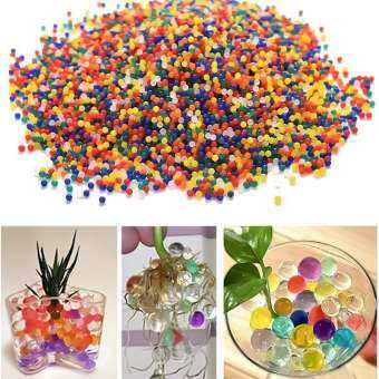 10000PCS / package Colorful Magic Soil Beads Plant Water Balls Soft Crystal Mud Vases Decor