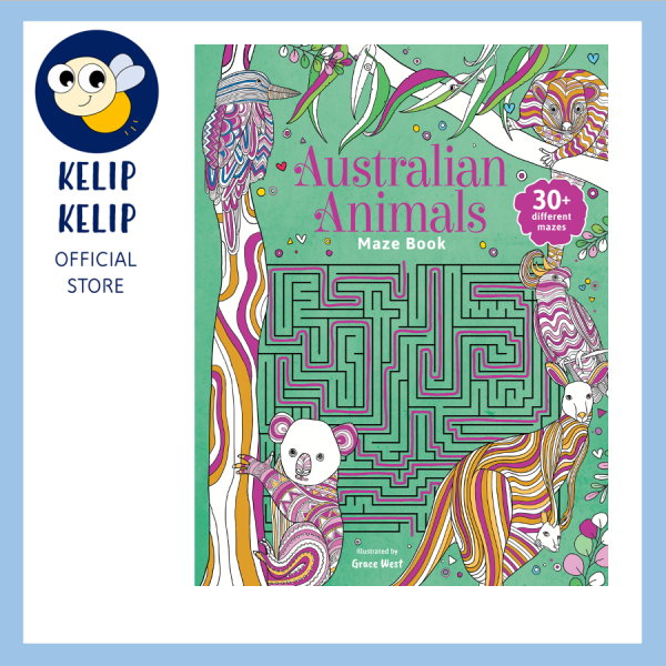 Maze Book of Australian Animals With Fun Activities and Colouring Pages For Children 48 Pages Malaysia