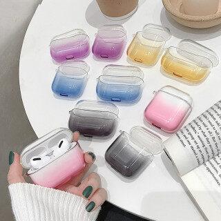 Gradient Màu Kẹo Vỏ TPU Trong Suốt Cho Apple Airpod Pro Tai Nghe Không Dây Bảo Vệ Vỏ Silicon Mềm Cho AirPods 3 2 1 thumbnail
