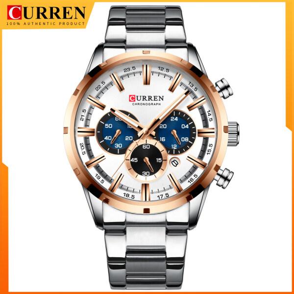 CURREN Latest Fashion Men Watches with Stainless Steel Top Brand Luxury Chronograph Sports Quartz Wristwatch Men 8355 Malaysia