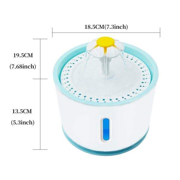 Mèo Cưng Đài Phun Nước Máy Nạp Nước Tự Động Với Đèn LED 2.4 L Chó Mèo USB Uống Nước Dụng Cụ Rải Cho Ăn Bát Trụ Uống Nước