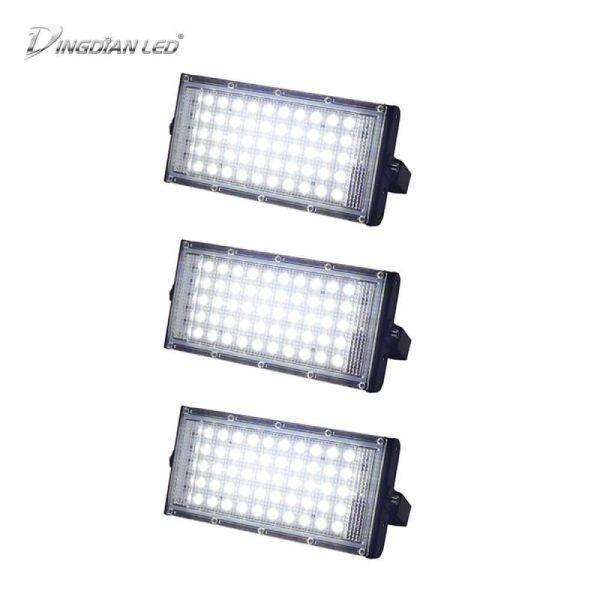DINGDIAN LED 3 Gói Đèn Pha Led 220V Đèn Dùng Ngoài Trời Đèn Siêu Sáng IP66 Không Thấm Nước 50W
