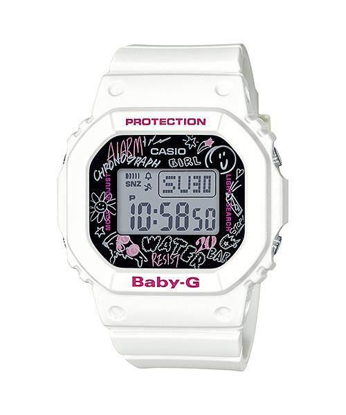Casio Baby-G Women's White Resin Strap Watch BGD-560SK-7