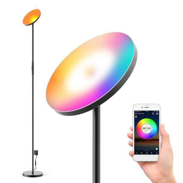 Bảng giá Fityle Đèn Sàn LED Hiện Đại, Cao Torchiere Đèn Tương Thích Với Amazon Alexa , , Đèn Đứng Đọc Sách Có Thể Điều Chỉnh Độ Sáng Cho Văn Phòng Ngủ