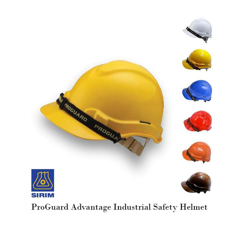 EzSpace Proguard White / Yellow / Red / Blue / Brown / Orange Safety Helmet (SIRIM) for industrial / construction sites