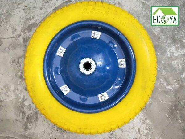 Barrow Wheel - PRO Metal Ring PU Wheel (Tubeless) Yellow Colour