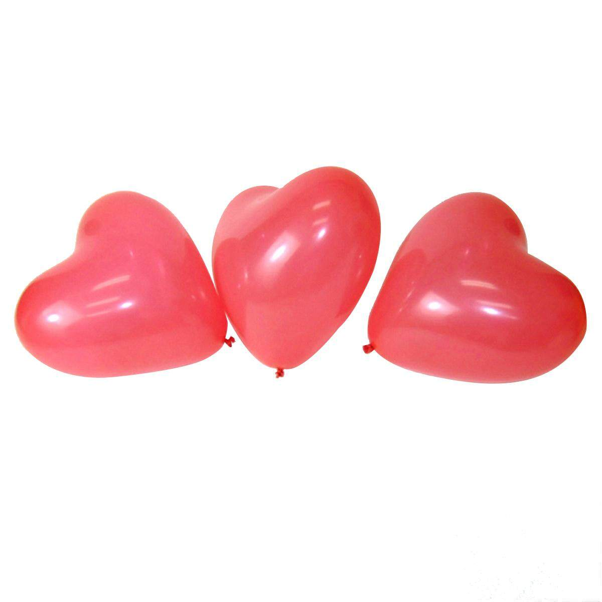 100 PCS 12 Red Heart Love Latex Balloons Wedding Birthday Party Valentines Day