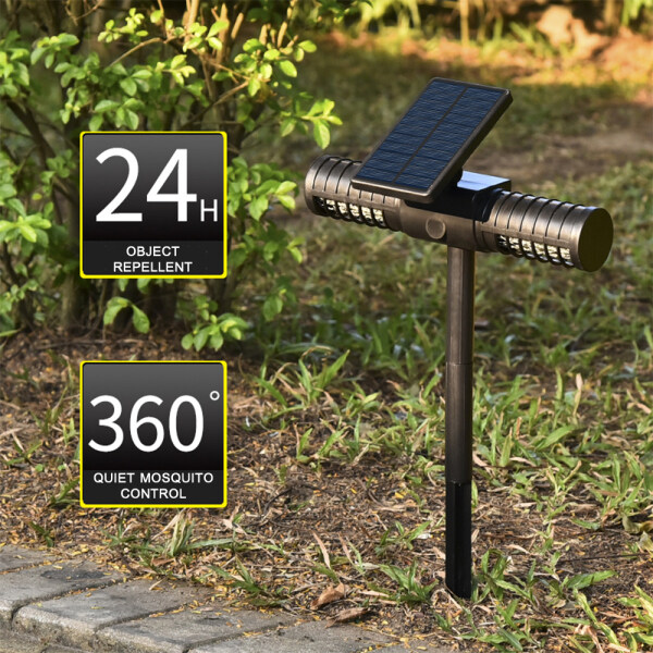 KKmoon Solar Insect Killer Bug Zapper Light Camping Mosquito Killer Lamp Waterproof USB Powered Electric Lamp for Yard Garden Driveway Porch Walkway Pool Patio