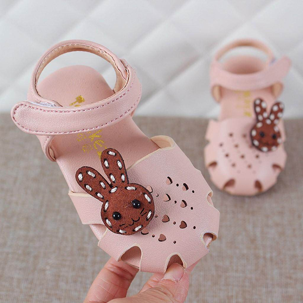 Myapple Summer Toddler Infant Kids Baby Girls Rabbit Heart Hallow Sandals Princess Shoes By Myapple.