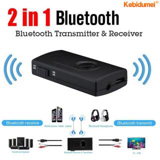 Bộ loa Bluetooth không dây 2 trong 1 thu và phát A2DP, cáp Audio 3.5mM , cáp sạc USB - INTL thumbnail